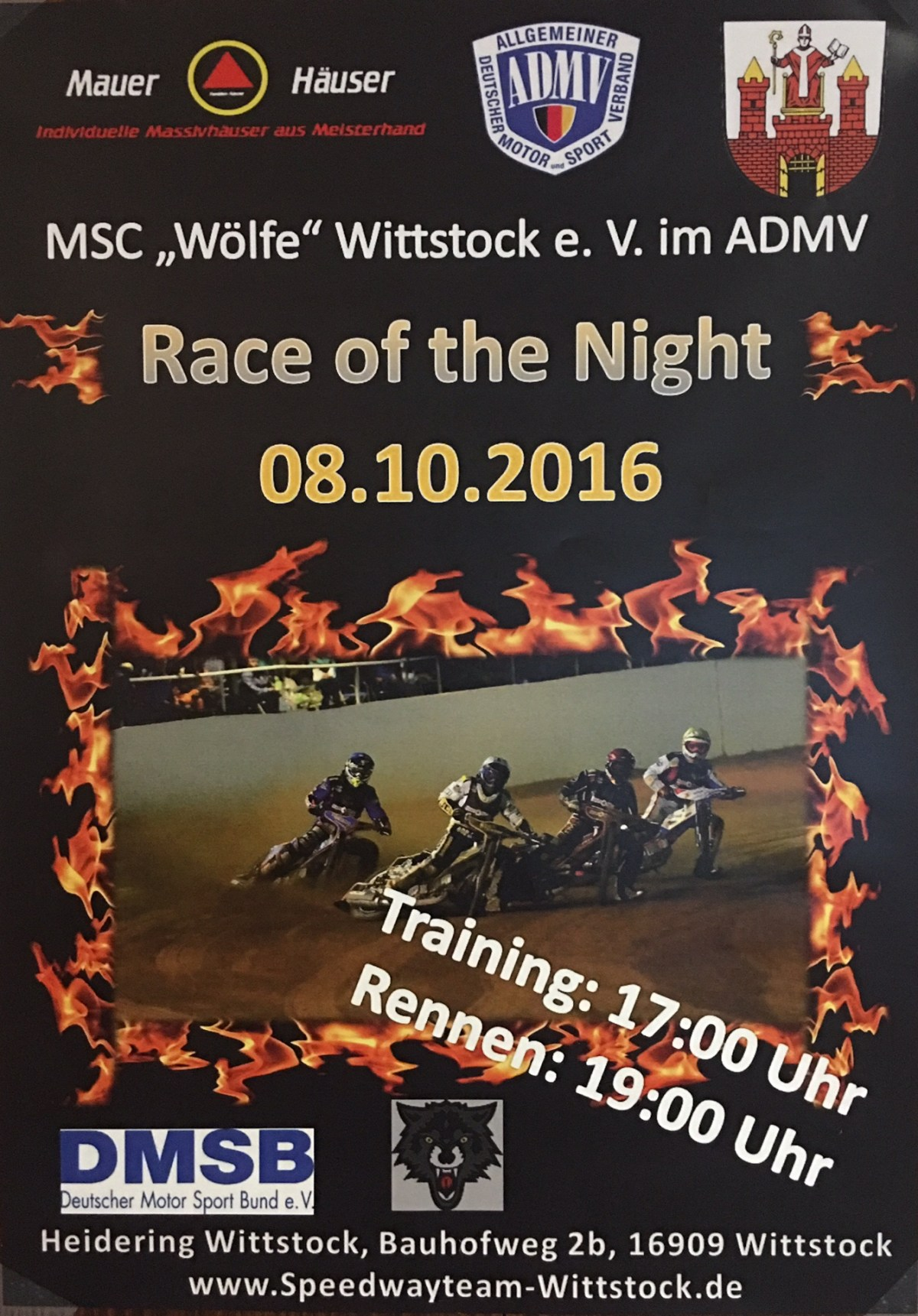 "Speedway ""Race of the Night"" 08.10.2016"