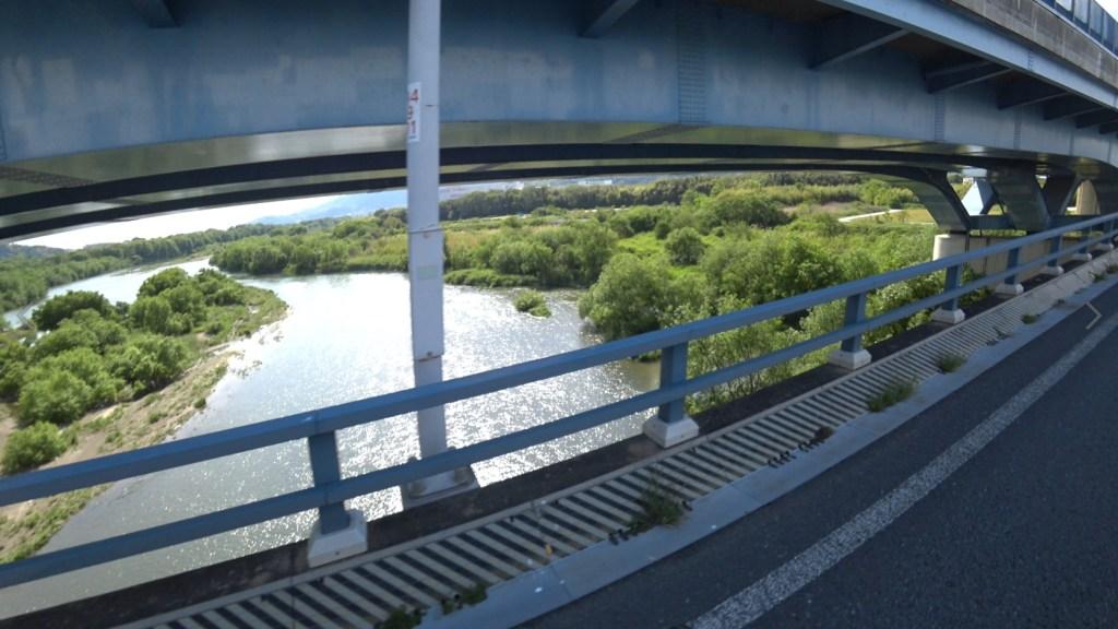 橋から眺める淀川上流