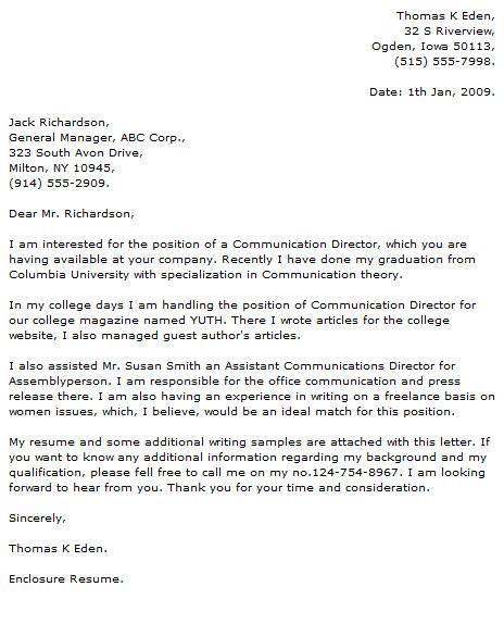 cover letter for technologist fresh graduate cover letter for technologist fresh graduate
