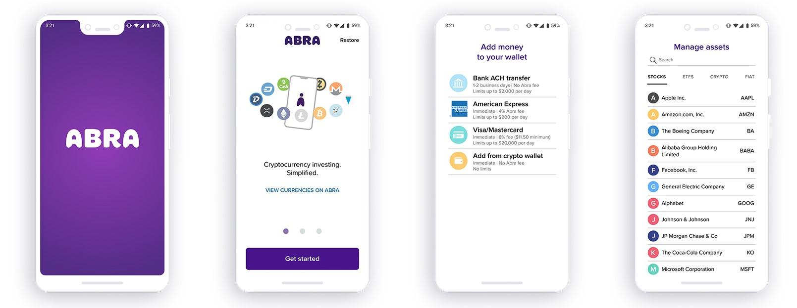Comó comprar acciones con Bitcoin en Abra
