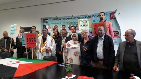 Jeudi 19 avril 2018 - Claude Mangin-Asfari soutenue par la Communauté Sahraouie en France