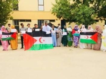 Lundi 23 avril 2018 - Manifestation à l'Université Saida d'Algérie