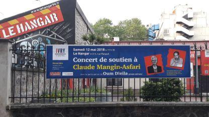 Collage des affiches du concert de soutien