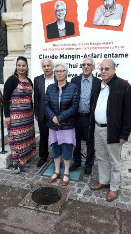 Claude au 22ème de jour de grève de la faim avec le CNASPS