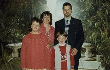 De familie Engrie-Andries in 1995.