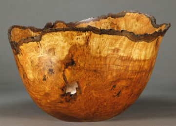 "OF 17. Cherry Burl. 15 1/2"" x 14 1/2"" dia. x 9 1/2"" tall"
