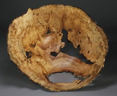 "Red Maple Burl 14 3/4"" x 13 3/4"" dia. x 7 1/4"" tall"