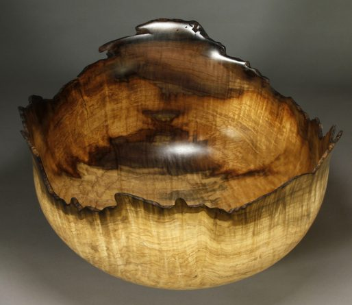 "Panorama Tulip Poplar #20. 16 1/2"" dia. x 10"" tall top view"