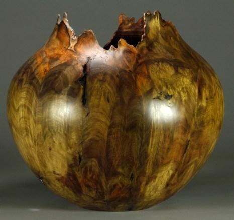 "#65. Jones Tulip Poplar Burl. 15"" dia. x 13 1/2"" tall"