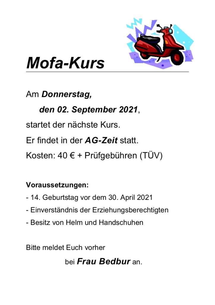 AG Mofakurs, Plakat, 2021