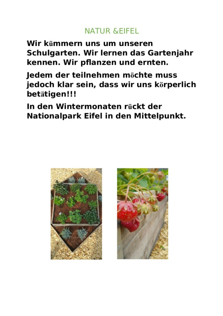 AG Natur&Eifel, Plakat, 2021