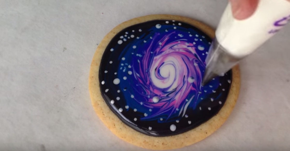 How To Decorate Galaxy Cookies With Royal Icing