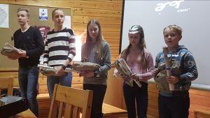 Junioreista parhaina palkittiin mm. Oskari ja Siiri Silvennoinen sekä Marikki, Hertta ja Henrik Juntunen.