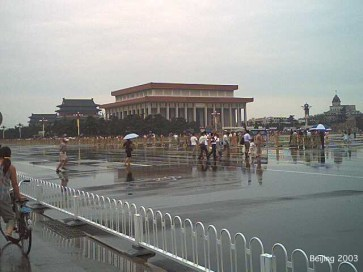 Chairman Mao's mausoleum at Tian-an-men Square (2003).