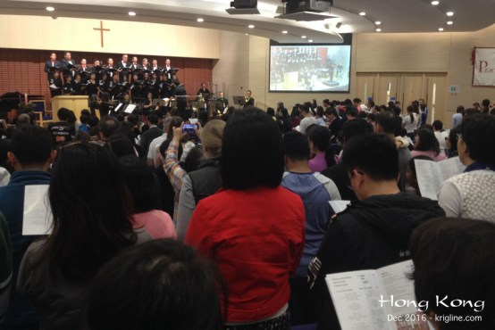 """What is Christmas without music? We really enjoyed this """"carol singing"""" service at St Andrews Church--one of our favorite churches here in HK."""