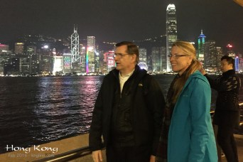 We ended the first night on the Kowloon side, taking in the breath-taking Victoria Harbor from another angle. Cameras and words just can't do it justice.