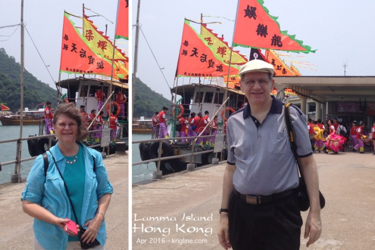 Michael & Vivian enjoy a morning at Lamma Island in HK