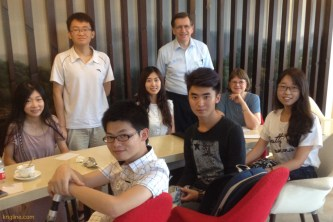 Students had asked us to make ourselves available to chat, so we sipped tea all Friday afternoon in the Economics Dept coffee shop, enjoying delightful conversations!
