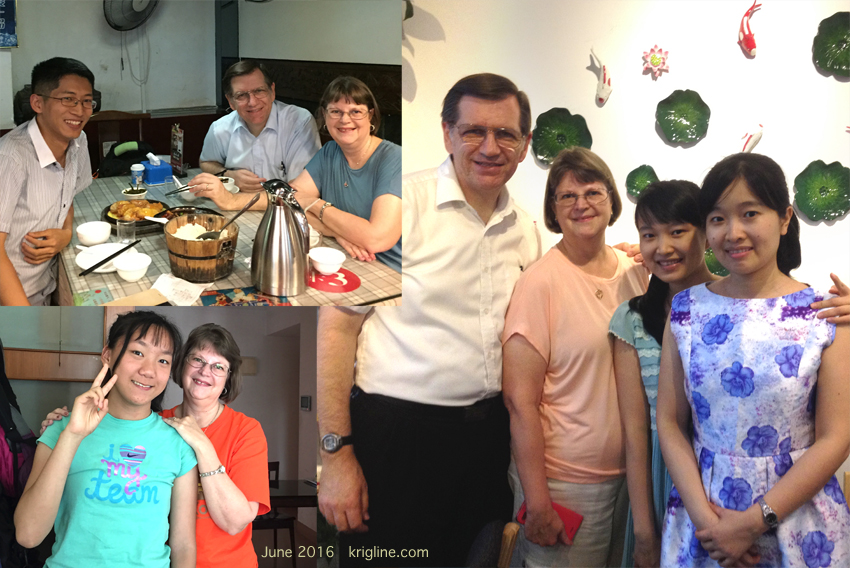 Although this trip's focus was XMU students, we squeezed in visits with other friends too. The young lady with Vivian (bottom left) painted that Gulangyu picture.