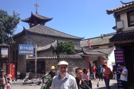 This church was built in 1904, so it has served the area for over a hundred years. Note the motorcycles behind me. They are everywhere in China's cities, including Dali. I thought I was going to be run over while my friend took his time to snap this photo.