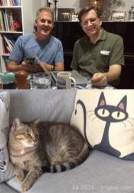 Old friends united... and Brian's cute cat.