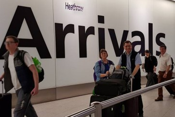 Safely arrived London Heathrow Aug 29. It was about 7 hours from HK to Qutar, 5 hours there, another hour due to someone's medical emergency, then about 8 hours to London.