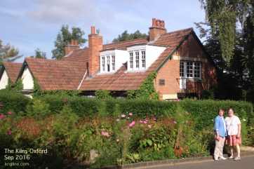 "Sept 1: toured the home of one of our favorite authors: CS Lewis. The place is called ""The Kilns"", near Oxford."