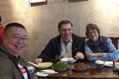 """A trip to Beijing isn't complete without good food in the company of my best friend from """"college days"""" in Xiamen (1985)."""