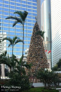 """Ah, Hong Kong, with towering palm trees beside the Christmas tree, in the shadow of some of the tallest """"towers"""" in the world!"""