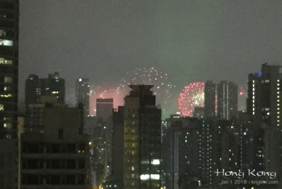 """We live in Mongkok, and one of the best things about our little home is the view. We would much rather watch the fireworks from here, than to get pushed around by the million people in TST watching this """"up close""""!"""