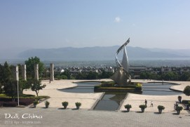Way up on the hill, here's a view from Dali University. There's not likely a prettier view from any classroom in China! Kunming has a high altitude, but Dali is over twice as high--so you really feel the stairs when you first arrive.