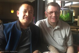 Roland was my student in 2009, at Kunming Medical University. When we found out that our schedules overlapped, we enjoyed a cup of tea before he had to leave for the airport. It is always heart-warming to know that busy doctors still enjoy chatting with their old teacher after so many years!