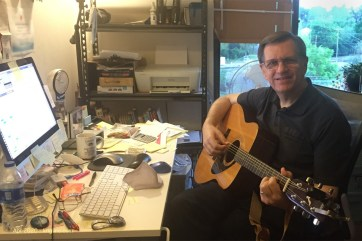 """Coronavirus """"work at home"""" orders have forced me to spend much more time at home. One good thing about this is that I finally decided to get my guitar out again--no longer able to say """"I'm too busy to play it."""""""