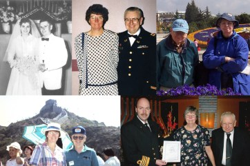 """Mom and Dad married in the 1950s, visited when I was in China several times, and celebrated their 50th anniversary with a """"renewal of vows"""" on a cruise in Alaska! (And yes, Dad served in the Army and Reserves for many years.)"""