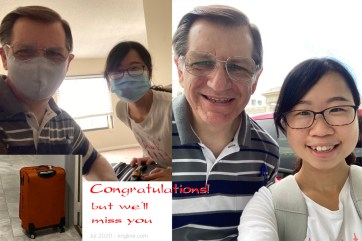 The hardest part of this work is saying goodbye. But our friend Ann completed her Master's Degree, and I took her to the airport recently, to move to the next part of her life. Fortunately, we can stay in touch through Zoom!