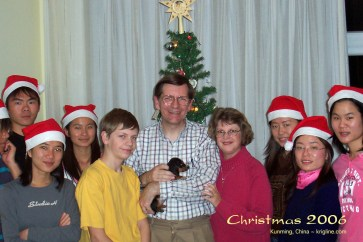 Yes, in 2006, we got a puppy for Christmas!