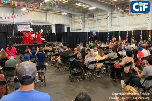 Throughout the Festival, guests enjoyed international performances in the Nutt Building, which also hosted a food court featuring dishes from 16 nations.