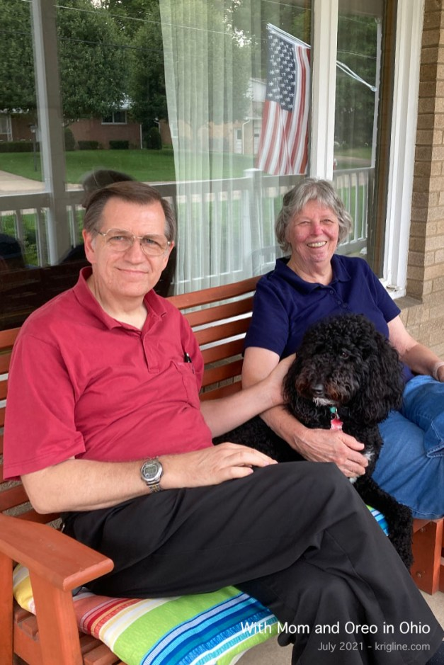 With Mom and Oreo in Ohio