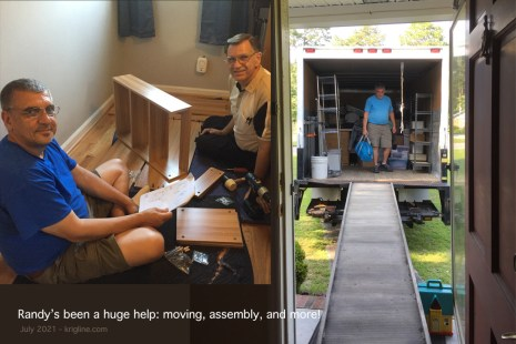 Randy has been a good friend since the 1990s. He helped Michael build several items of furniture, and borrowed a company truck to help us move. What a great guy!