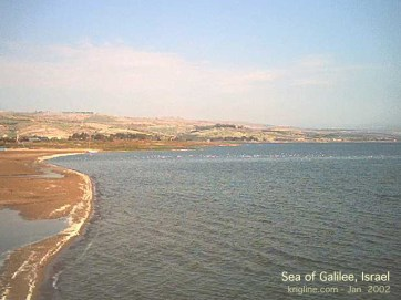 Ben and Donna were wonderful hosts, driving us around and explaining things. Here's the Sea of Galilee in 2002.