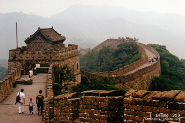 That's 6-year-old Andrew with my old friend Jimmy, walking on the Great Wall in the summer of 1999.