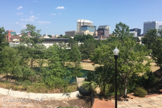"Here's a picture of Columbia SC. The skyline is very ""tame"" compared to what is outside our bedroom window in Hong Kong, but Columbia is a nice city."