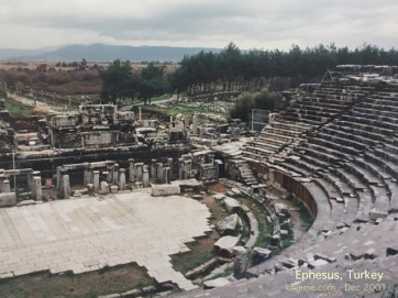 """Standing in the well-preserved ruins of the massive coliseum, you could imagine Paul in the center, first fighting """"wild beasts"""" (1 Cor 15:32) and then preaching Christ-crucified: foolishness to the Greeks and a stumbling block to Jews (and to Muslims who now rule Turkey), but """"Christ the power of God and the wisdom of God"""" to those being saved (1 Cor 1:23ff)."""