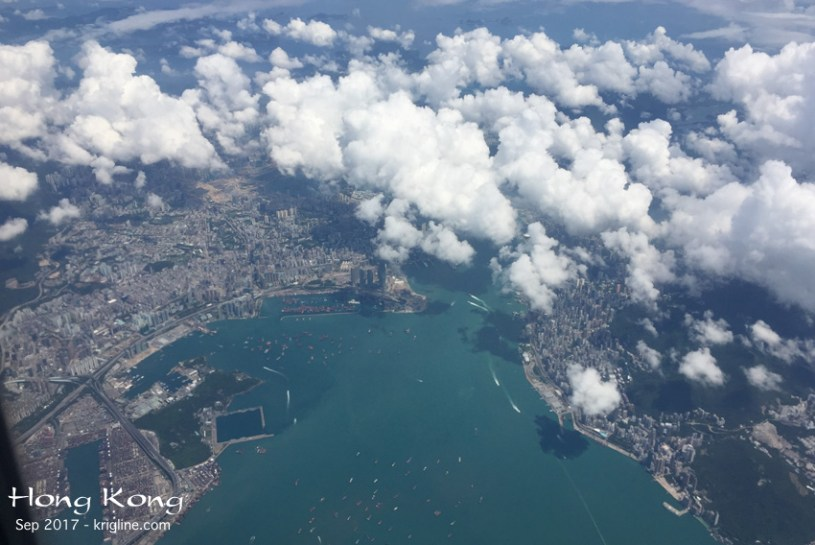 "As we flew into China from Hong Kong, I couldn't believe the view of HK below! I grabbed my iPhone6 and got some wonderful photos of ""home."" (Write to me if you want a bigger image.)"