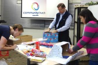 On December 4, in spite of my cold, we helped a local church pack gift boxes that their families generously provided for JHF children all over China!