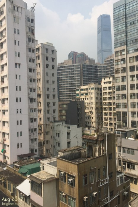 The view from what might become our second Hong Kong apartment. The tall building is actually the tallest in HK, and tenth tallest in the world.