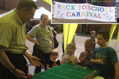 This summer, it has been fun to see so many friends, and make many new ones. Last Saturday we got to help friends at the New Horizons church in Akron give away hundreds of school supplies at a free carnival.