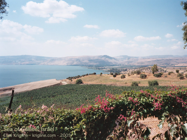 The Sea of Galilee during my parents' visit in 2003.