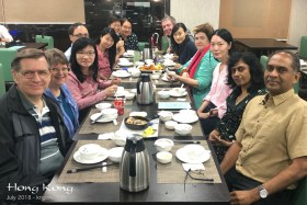 In mid-July we gathered with friends in Hong Kong for dinner, and to celebrate several birthdays among the group (including ours).