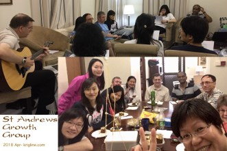 "We got back to HK just in time to join this one-day ""retreat"" with friends from church. In the selfie at the bottom, teams had to build a tower with dry noodles and a marshmallow -- the ladies' team beat us guys!"